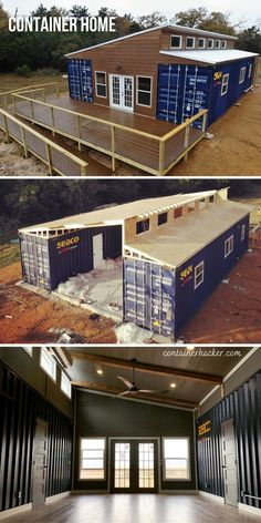 Container Cabin, Storage Container Homes, Container Houses, Container Design, Shipping Container Homes, Shipping Containers, Modular Home Designs, Modular Homes, Barn House Plans