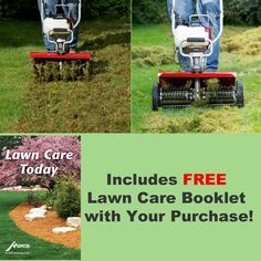 """Aerator Attachment cuts into the soil under your lawn with four sets of tempered steel """"knives,"""" to permit easy absorption of water, oxygen and nutrients. Small Garden Tiller, Amazing Gardens, Beautiful Gardens, Root System, Clay Soil, Hardy Plants, Lawn Care, Planting Seeds, Garden Tools"""