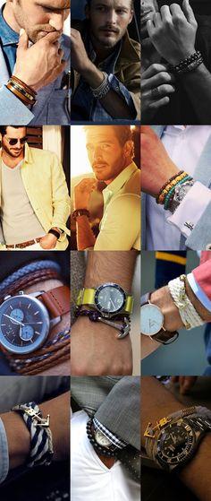 Men's 2014 Spring/Summer Accessory Trends: Bracelets Lookbook Inspiration