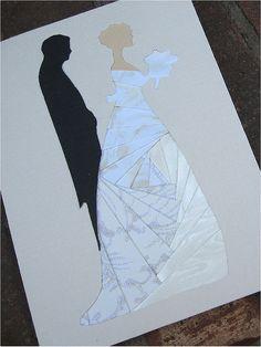 wedding iris folded