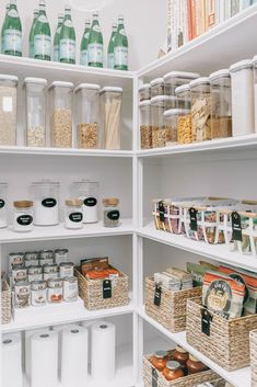 How to organize your pantry. Tips and tricks for organizing … Pantry Organization. How to organize your pantry. Tips and tricks for organizing your pantry. How to label food in your pantry. Our Home : One Pantry, Two Ways – Mika Per Kitchen Pantry Design, Diy Kitchen, Kitchen Storage, Kitchen Decor, Kitchen Ideas, Kitchen Inspiration, Pantry Storage, Kitchen Designs, Ikea Kitchen Pantry