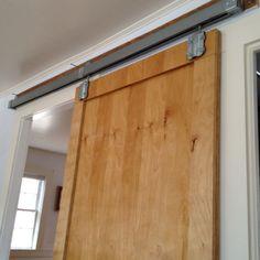 Love our barn door style bedroom door.