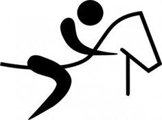 Olympique des sports équestres clip art Pictogramme