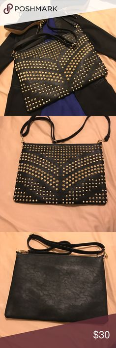 Bebe studded crossbody Only flaw is on the lining. However, if you know how to sew you are good to go! bebe Bags