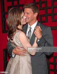 World's Best David Boreanaz Stock Pictures, Photos, and Images - Getty Images Bones Booth And Brennan, Bones Tv Series, Bones Show, Fred And Ginger, Emily Deschanel, David Boreanaz, Tv Couples, Alyson Hannigan, Matthew Mcconaughey