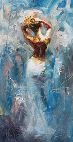 Henry Asencio - Woman Painting