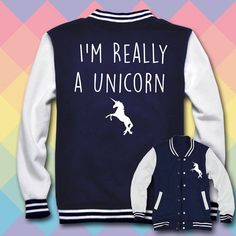 I'm Really a Unicorn sweatshirt. One for my dog poppy one for me Looks Style, My Style, Unicorn Outfit, Real Unicorn, Unicorn Birthday Parties, Sweater Fashion, School Outfits, To My Daughter, Cute Outfits