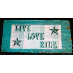 like it Amazoncom Old Wood Sign- Live Love Ride Country Western Home Decor Everything Else
