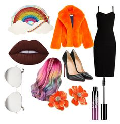 """""""Blind date"""" by sophiain02 ❤ liked on Polyvore featuring MaxMara, Christian Louboutin, claire's, Charlotte Russe, Kenneth Jay Lane and Victoria Beckham"""