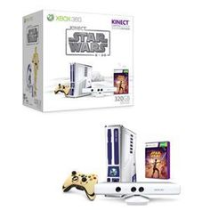 New Microsoft Xbox 360 Limited Edition Kinect Star Wars Bundle