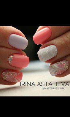 and Beautiful Nail Art Designs Creative Nail Designs, Creative Nails, Nail Art Designs, Spring Nails, Summer Nails, Trendy Nails, Cute Nails, Nail Art Arabesque, Hair And Nails