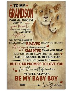 Lovely Message From Grandma For Grandsons Vertical Poster - Golderkey.co Son Quotes From Mom, My Children Quotes, Mom Quotes, Quotes For Kids, Family Quotes, Life Quotes, Child Quotes, Daughter Quotes, Prayer Quotes