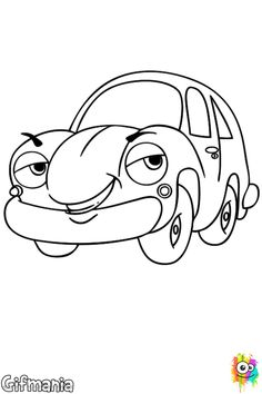 coche - Sebastian Crab Coloring Pages
