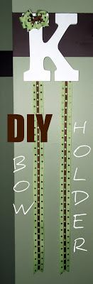 Bit of Blue Sky: Crafty Tutorials, Bow Holder DIY