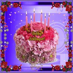 Születésnapra szeretettel... Happy Birthday, Birthday Cake, Name Day, Birthday Candles, Rose, Beautiful, Happy Birthday Greetings, Happy Brithday, Pink