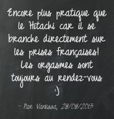 """Encore plus pratique que le Hitachi car il se branche directement sur les prises françaises! Les orgasmes sont toujours au rendez-vous :)"" - Vanessa, 28/08/2013, french owner of #EuropeMagicWand wand massager. #5outof5 stars for @EuropeMagicWand. Get more info at www.europemagicwand.fr"