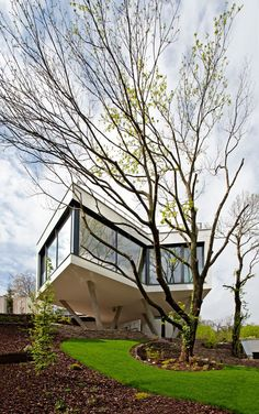 Modern and Highly Functional Urban Oasis: House Between the Trees in Bratislava