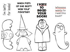 The Centered School Library: Halloween DIY Bookmarks