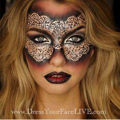 Incredible masquerade makeup