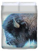 American Buffalo Profile Painting Duvet Cover by Bill And Deb Hayes