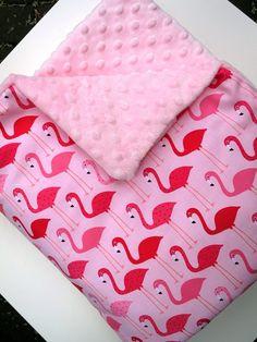 Tkanina Flamingos Pink i Minky Blush! :)
