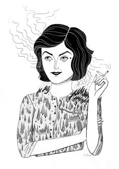 Audrey Horne ofTwin Peaks,for a zine curated by Andrea Kalfas! Julianna Brion
