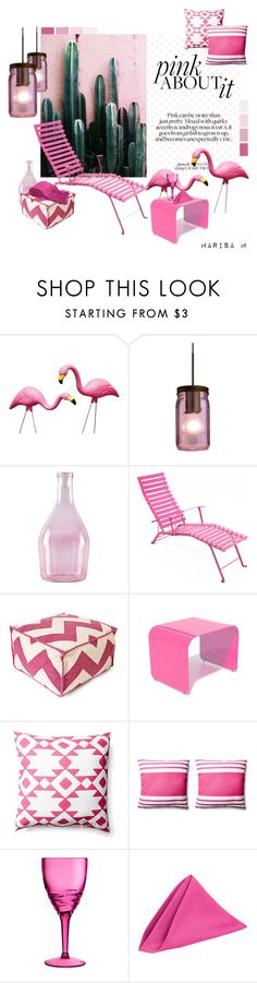 """""""Pink Garden"""" by maria-felisa ❤ liked on Polyvore featuring interior, interiors, interior design, home, home decor, interior decorating, Besa Lighting, Incipit, Fermob and Jiti"""