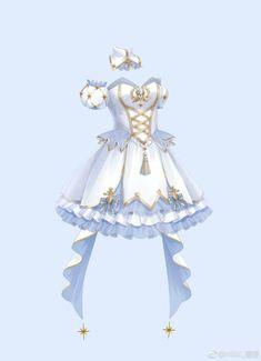 Manga Clothes, Drawing Anime Clothes, Dress Drawing, Dress Design Sketches, Fashion Design Drawings, Anime Girl Dress, Clothing Sketches, Anime Costumes, Fantasy Dress