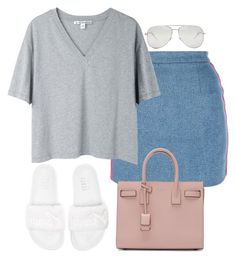 """""""Untitled #133"""" by simonakolevaa ❤ liked on Polyvore featuring Chanel, Acne Studios, Puma and Yves Saint Laurent"""