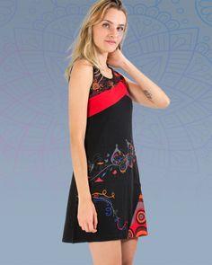 Robe longue ethnique grande taille INCAS noire Noir
