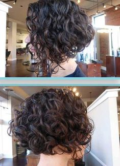 Inverted Bob Haircuts for Short Curly Hair