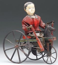 Rare Ives boy on perambulator clockwork toy. Metal Toys, Tin Toys, Belle Epoque, Modern Dollhouse, Victorian Dollhouse, Vintage Trends, Old Antiques, Antique Toys, Vintage Dolls