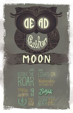 Fab poster design with a little hand lettering