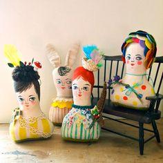 Soft sculpture display doll primitive folk por JessQuinnSmallArt, £38.50
