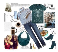 """Coffee with my Besties"" by paperdollsq ❤ liked on Polyvore featuring Coffee Shop, DL1961 Premium Denim, Christopher Fischer, American Apparel, Gianvito Rossi, Bodum, Casetify, Spitfire, Marni and Spacecraft"