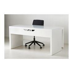 MALM Escritorio con tablero extraíble - blanco - IKEA