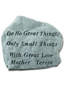 Do No Great Things Stone Plaque. Memorial PlaquesGarden AccessoriesWall ...
