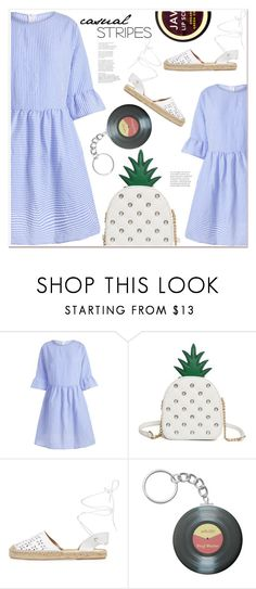 """""""casual stripes"""" by mycherryblossom ❤ liked on Polyvore featuring Maiden Lane and Java"""