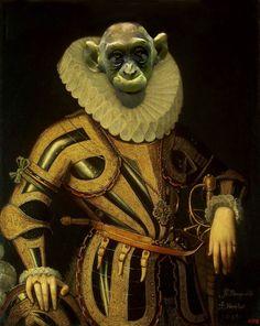 Animal Renaissance 4 - Worth1000 Contests.    Aristo Monkey