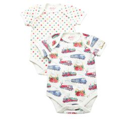 Clothing & Accessories   Pack of 2 Tiny Trains Bodysuits   CathKidston