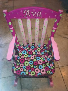 Great Hand Painted Childrenu0027s Furniture. Hand Painted Rocking Chair. Hand Paintedu2026