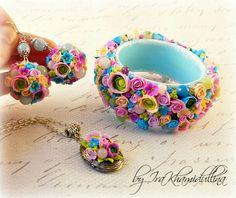 .Armband, Ohrringe und Anhänger