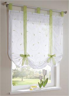 "Tenda a pacchetto ""Jana"" Verde - Casa - bonprix. Linen Curtains, Curtains With Blinds, Home Decor Kitchen, Diy Home Decor, Paper Flowers Craft, Curtain Designs, Curtain Ideas, Window Dressings, Colorful Curtains"