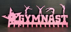 Gymnastics Ribbons Holder: Personalized Medals Holder: Medal Display.....The # 1 Creator of Metal Home Wall Décor, Custom Wall Plaques, Personalized Medal Holders and Personalized Sports Trophy Shelves