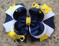 """Thank you for looking. This listing is for ONE hair bow. The bow measure about 4.5"""" wide. Bow is attached to an alligator clip with a no slip grip and all ends are heat sealed. Head band available for $1.50 each. Customs are very welcome! Direct Check Out and PayPal are accepted. Your order will be shipped USPS First Class Mail within 4-6 business days of receiving cleared payment. Please check full selection of bows and hair clips and save on shipping. If for any reason you are not happy…"""