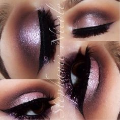 .@Stephanie Salinas | Today's Eyes -Primer: Painterly (MAC) -Crease: Uninterrupted and Deep Damson ... | Webstagram