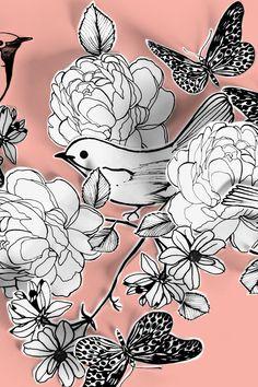 Paper birds & flowers