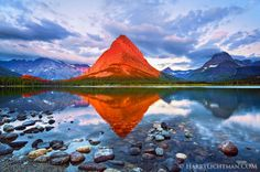 Grindell Point. Glacier National Park. Harry Lichtman. Posted by Photobotos.com