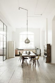 Wooden and industrial-inspired studio.