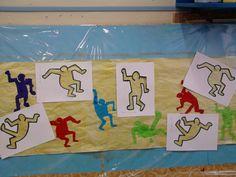 frise à la manière de Keith Haring